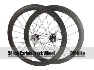 clincher carbon track bike wheels fixed gear single speed wheelset