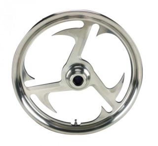 15 BILLET BAYONET FRONT WHEEL FOR HARLEY FXST SOFTAIL FXDWG 84 99 NEW