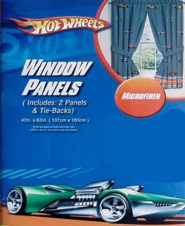 Mattel Hot Wheels Gray Curtain Drapes Window Treatment New