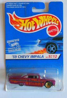 HOT WHEELS 1997 #16670 59 CHEVY IMPALA GWSPS VARI INTERNATIONAL CARD