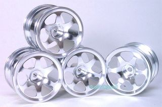 4pcs Aluminium 6 Spoke Rim Wheel Fits RC18T RC 18T