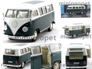 Welly 1962 62 VW Volkswagen Classical Bus 1 24 Diecast Green