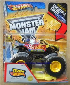 2013 HW Team Hot Wheels Firestorm Monster Jam New Tool 1 64 Truck