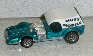 Hot Wheels Redline Mutt Mobile w Original White Top Aqua Nice