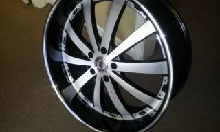 New Redsport 77 22 Black and Machine Wheels with New Tires