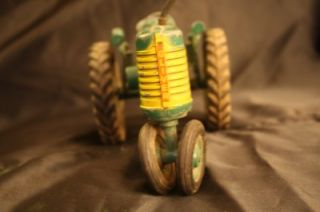 Early Oliver Super 77 Toy Tractor W/ Green Wheels Nice Original Old