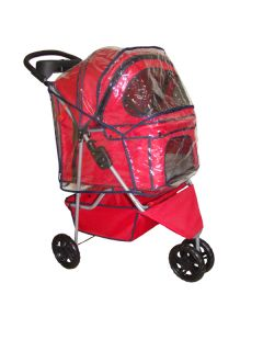 New BestPet Red Pet Dog Cat Stroller w Raincover 15R