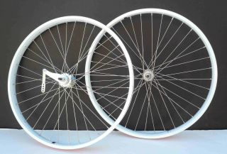 Cruiser Bike 26x2.125 Rear & Front Wheels Rims w coaster Brake White