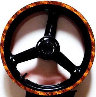 Fire Flame Rim Stripes Wheel Decal Tape Kit Suzuki GSXR 600 750 1000