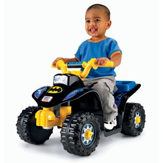 New Fisher Price Power Wheels DC Super Friends Batman Lil Quad Ride on