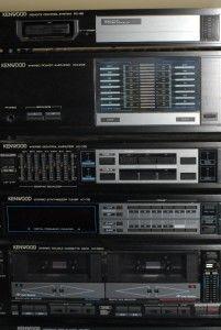 Vintage Kenwood Stereo Power Amplifier System 6 PC Set