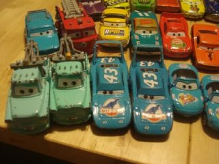 Disney Pixar Diecast Cars McQueen Mater 106 Total Cars Trucks