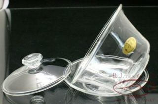 Large Clear Glass Gaiwan Saucer 250ml CSY
