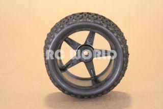 RC 1 10 Buggy Rims Tires Wheels Kyosho Tamiya Wide Block