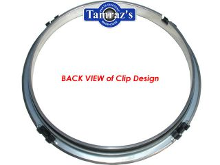 70 81 15 x 7 Chevelle Z28 Stainless Trim Ring Set New