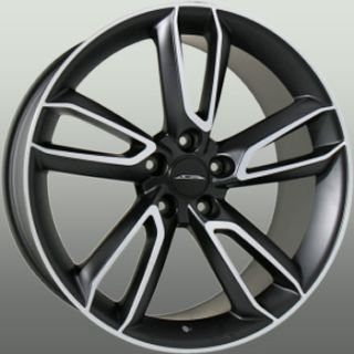 SCORPIO 5x114.3 ET40 MATTE BLACK w/ MACHINE FACE WHEELS (4) NEW RIMS