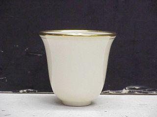 Gold Rim Lenox Porcelain Demitasse Cup Liners Inserts