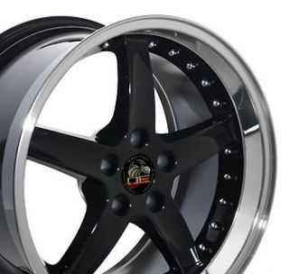 18 9 10 Black Cobra Style Wheels Rims Fit Mustang® 94 04