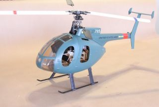 RC Helicopter 400 Army Military MD 500 Hughes 500 Brushless RTF