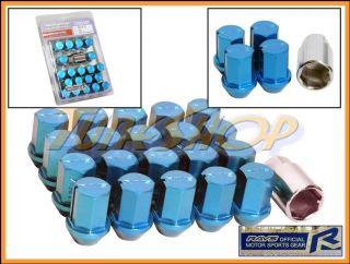 35MM WHEELS LOCK LUG NUTS 12X1.5 1.5 ACORN RIMS FORGED DURA 20 BLUE U