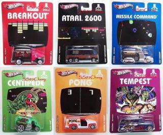 2012 Hot Wheels Nostalgia Atari 2600 Set of 6 w/ 55 Chevy Panel GMC