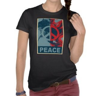 POP ART Peace Symbol Tee Shirts
