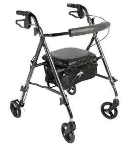 Wheel Lightweight Rollator Rolling Walkers by Medline