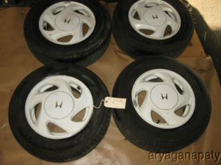 88 89 90 91 Honda Prelude OEM wheels rims with tires Si STOCK factory
