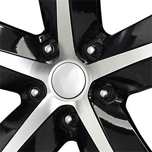 20X9 5 115 Replica Challenger Gloss Black Machined Face Wheels/Rims