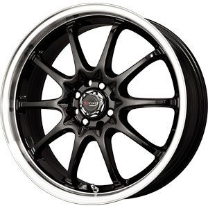 New 17X7 5 110/5 115 Dr 9 Gloss Black Machined Lip Wheels/Rims
