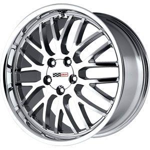 New 17x9 5x120 65 Cray Manta Chrome Wheels Rims