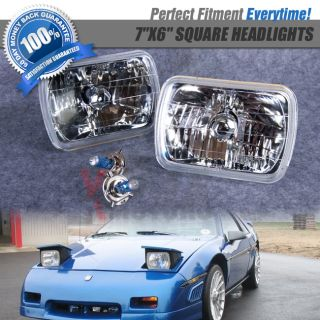 7x6 SEALED Beam Headlights Head Lamps Crystal Chrome 82 95 Toyota