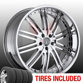 Set of 4 New 24 Versante 212 5x115 15 Wheels Tires Rims Chrome