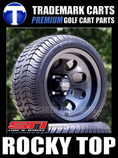 New Low Profile Golf Cart Tires 12 Aluminum Wheels