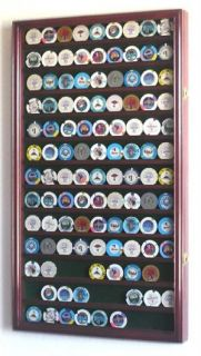 Coin Poker Casino Chip Display Case Cabinet Wal Lrack
