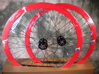 New Origin 8 Track Fixed Gear Wheelset Red Fixie SS