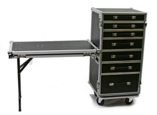 Drawer Utility ATA Road Case Work Box 4 Caster Wheels