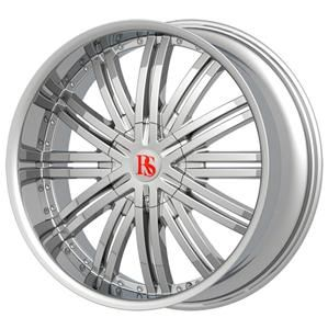 20 Wheels Rims Package Free Tires Red Sport Wheel RSW99 Chrome 5x108