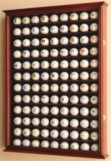 PGA 108 Golf Ball Display Case Cabinet Wall Rack Holder