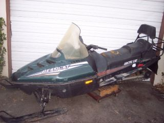 95 Arctic Cat Bearcat 340 Cougar Ext 580 Snowmobile Ski