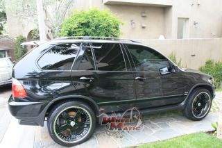 22 Black Chrome Lip asanti AF114 5x120 Lexus LS460 Camaro Range Rover