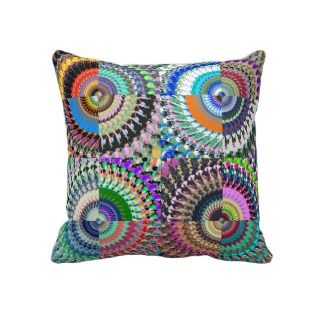 Abstract Digital Art Collage Throw Pillow