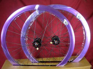 New Origin 8 Track Fixed Gear Wheelset Purple Fixie SS