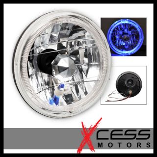 Round Replacement Headlights w City Light and Halo
