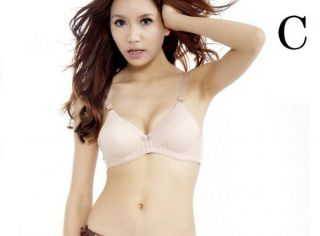 Lady Stripe Bowknot No Rims of Japanese Bra Sexy Girl Bra Cotton