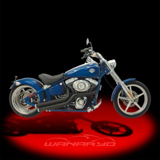 Supertrapp Mean Mothers Side Swipes Exhaust Black for 2008 2011 Harley