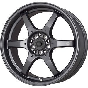 New 17X7.5 4 100 Konig Backbone Matt Black Wheels/Rims