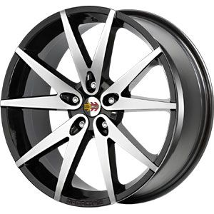 New 17X7 5 100 V10 Black Machined Face Wheel/Rim