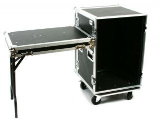 ATA Amp Effects Flight Road Case 20 Deep with Wheels Table