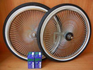 20 Lowrider Bicycle 140 Spoke Wheel Package Rims Tires and Tubes